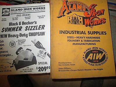 Vintage Catalog & Brochure Industrial Heavy Equipment Alamo Iron Works