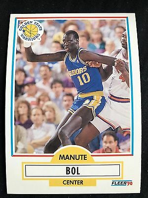 db106822987f ... Hoops Autographed Signed Card Coa.  25.00 Buy It Now 28d 1h. See  Details. 1990 Fleer NBA Manute Bol Golden State Warriors 62