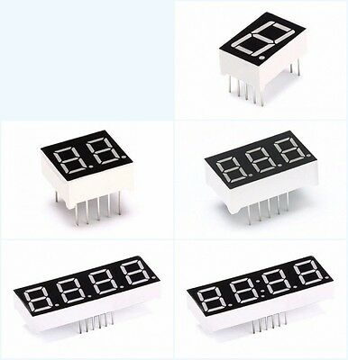 """Digital Tube Common Cathode/Anode Red LED Display 2 3 4 Bits 0.56/0.5/0.36"""" inch"""