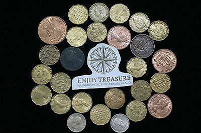 Uk Gb Lot Of Old British Coins A69 M16