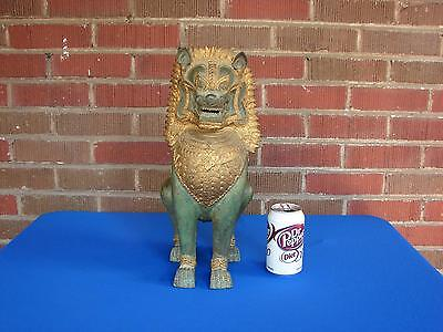 """Chinese South East Asian Thai Foo Dog  Statue 16"""" Tall"""