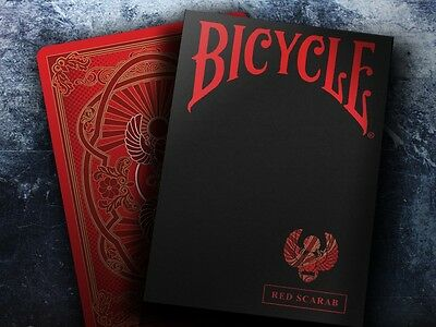 Scarab Red Bicycle Deck Of Playing Cards By Crooked Kings Magic Tricks Poker