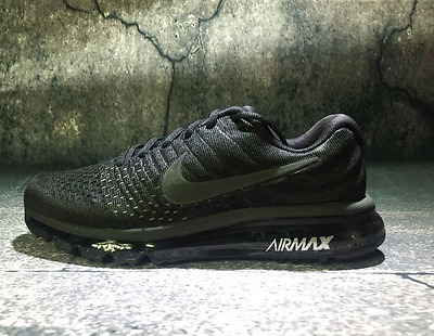 Nike Air Max 2017 Men Running shoes 849559-004 All Black Anthracite size 10