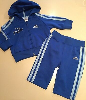 ADIDAS ORIGINALS My First Adidas Classic Tracksuit 00 3-6 Months ELECTRIC BLUE