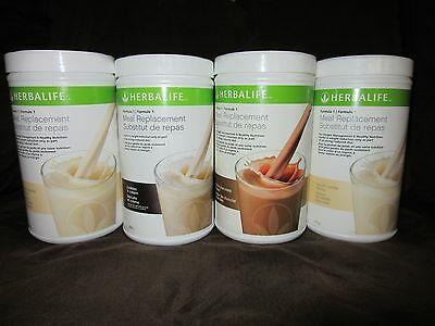 4 Herbalife Protein Shakes Formula 1 - 750g  (5 FLAVORS) - GET FREE SHIPPING