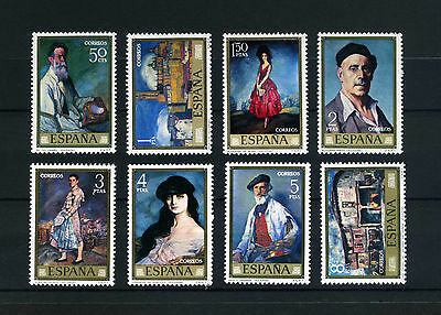 Spain  1971   Paintings   Set  of  8 Mint
