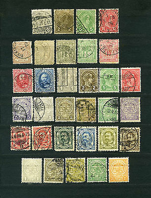 Luxembourg  4  Lots  of  early  stamps  used & mint  , 90 + stamps