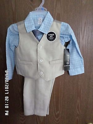 New Toddler/Boys - 4 Piece Suit - Vest & Tie - Size 24 mo -  Outfit