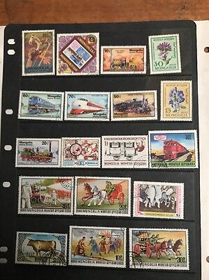 stamps Mongolia -  used - lot 30