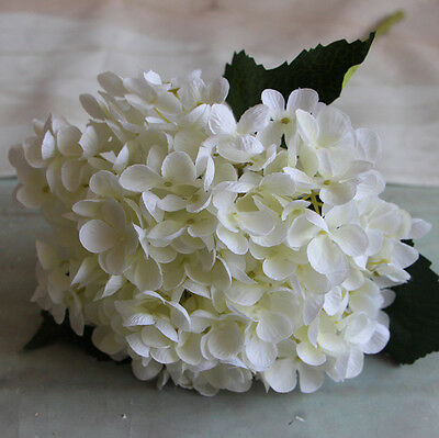 Artificial Hydrangea Silk Fake 11 Heads Flower Wedding Party Floral Decorations