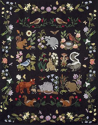 Woodland Creatures Quilt Pattern and Pre-cut Kit