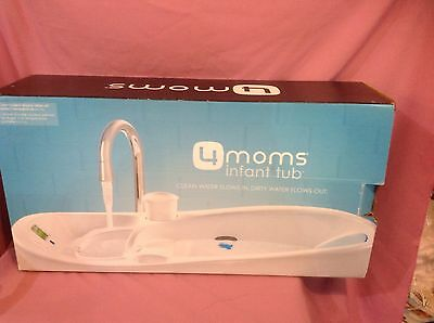 4Moms Infant Tub, White w/ Thermometer  1