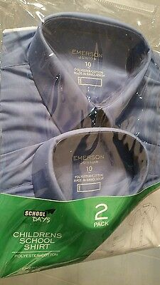Children's school  shirt junior size 10 2 pack
