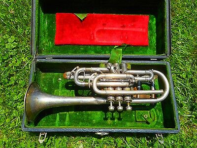J.w. York And Sons Perfectone Cornet, 1921, Extra Part, Case