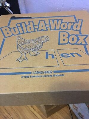 Lakeshore Build A Word Box Sounds Learning 1996 #402