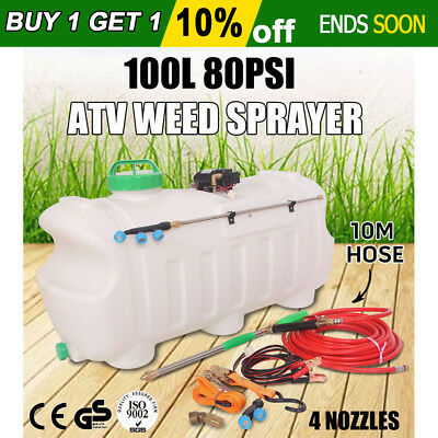 100L Atv Weed Sprayer Sport Spray Tanks Unit Chemical Garden Farm Water Pump New