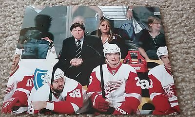 NHL RED WINGS HOF MIKE BABCOCK AUTOGRAPHED SIGNED 8x10 HOCKEY PHOTO COA JSA PSA