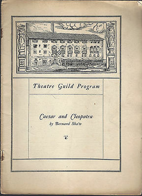 1925 Theatre Guild Program Caesar and Cleopatra Helen Hayes Lionel Atwell