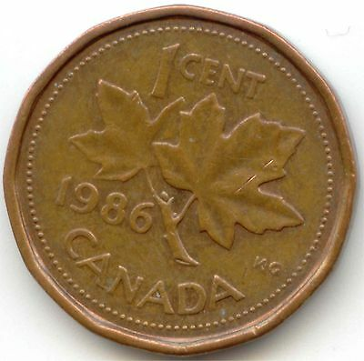 Canada 1986 One Cent Canadian Penny 1c EXACT COIN SHOWN