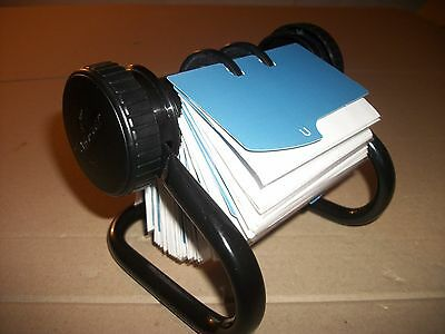 """Vintage Rolodex Open Rotary Card File With A - Z Tabs/Dividers 4"""" X 2 1/2"""""""