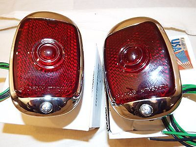 1947 1948 1949 1950 1951 1952 1953 Chevy Truck New Show Chrome Pair Taillights