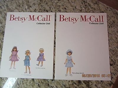 Betsy McCall Paper Dolls By Robert Tonner Co.Set Of 2-1998-New-Never Used