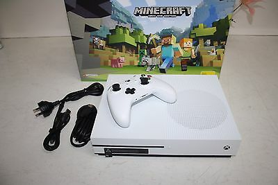 Xbox One S 500Gb White Console, Model-1681, 1 Controller, Leads And Box.