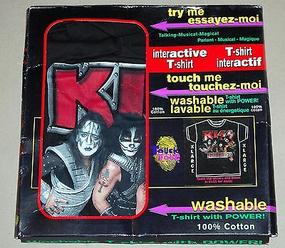 KISS 1996 Interactive T-Shirt MIB Unworn XL Gene Simmons Ace Frehley Peter Paul
