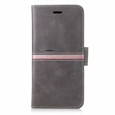 Luxury Magnetic Gray PU Leather Wallet Flip Case Cover For Samsung Galaxy S8