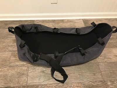 Bugaboo Cameleon Bassinet Carrycot W/ Strap Charcoal Gray & Black Gen 1 EUC!