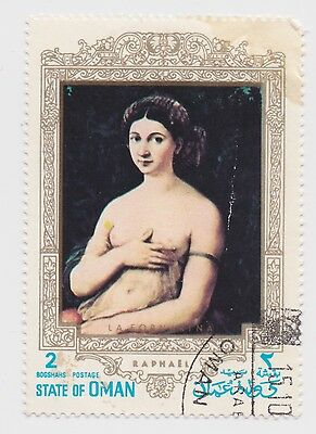 State of Oman - Raphael Painting - 2 Bogshahs Stamp