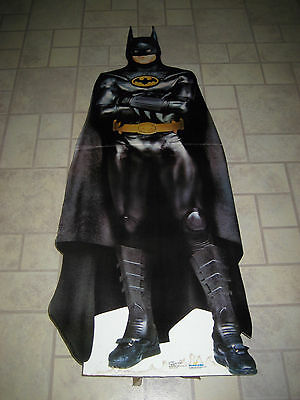 1989 Batman Dark Knight Michael Keaton 6' Life Size Standee Standup Display