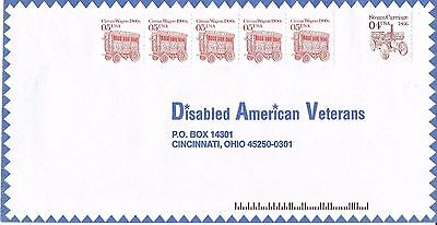 Stamped Envelope - Disabled American Veterans - 6 x Stamps