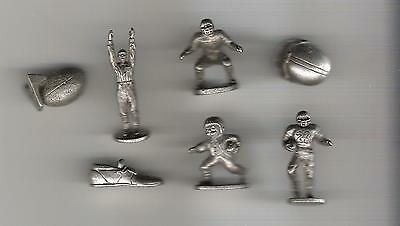 Monopoly Game Pieces - replacement movers - tokens - football - lot of 7