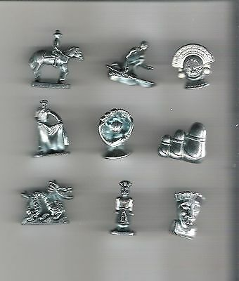 Monopoly Game Pieces - replacement movers - tokens - 9 Here and Now World