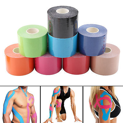 25/50mm Sports Kinesiology Tape Elastic Physio Muscle Tape Pain Relief Support