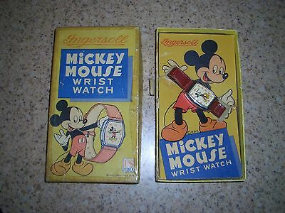 Mickey Mouse Ingersoll-Us Time Watch/1948/with Original Box/never Worn