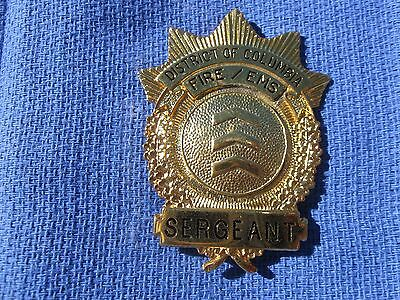 Vintage District Of Columbia Fireems  Fire Department Sergeant Badge