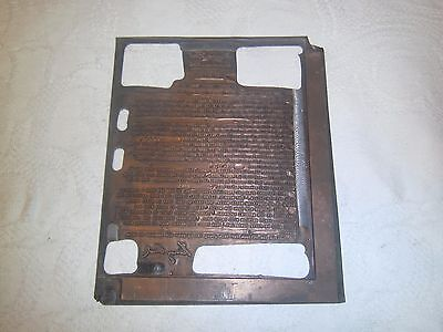 Vintage printing plate copper Henry Ford letter with signature June 1933