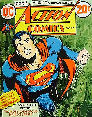 ACTION COMICS #419 Superman stamp set comic book style 16 x $1 stamps