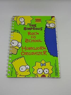 The Simpsons Back To School Homework Organizer Hungry Jack's 1995 Promo Item