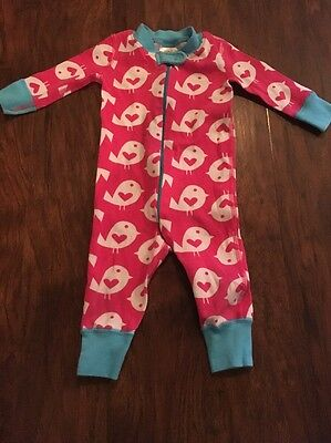 Hanna Andersson Baby Girl Pajamas, 100% Organic Cotton, Size 60 Cm, 6-9 Months
