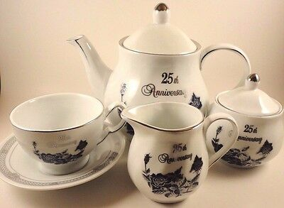 Coffee Tea Fine Porcelain Set 25th Anniv. 1855 Tipo Limoges DaVinci Home 17 PCS