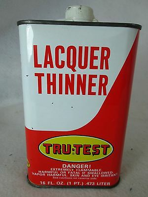 Vintage Tru-Test True Value Hardware Stores empty metal lacquer thinner can