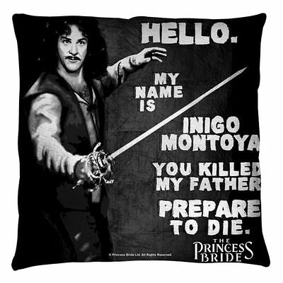 The Princess Bride Hello Again Throw Pillow White  INIGO MONTOYA