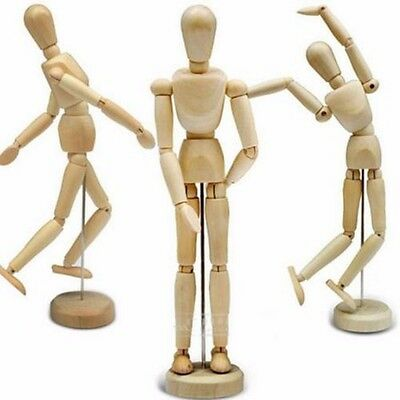 Wooden Wood Human Figure 5.5 Inch Unisex Manikin Mannequin Artist Drawing Model