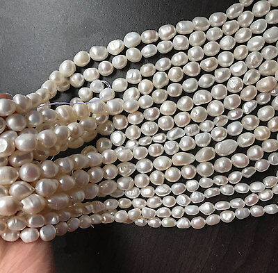 Real Freshwater Pearl Necklace full strand DIY irregular shape pearl wholesale