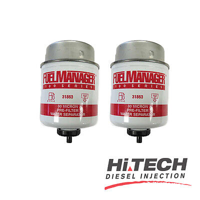 Fuel Manager Replacement Diesel Water Filter Element 30 Micron 31863 (2pk)