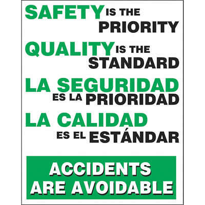 ACCUFORM Polyethylene Safety Record Signs,24 x 18In,Bilingual, SBPST110