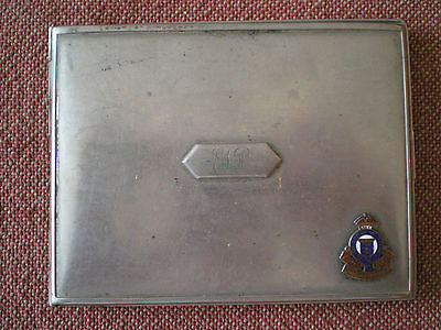 WW2 Royal Canadian Ordnance Corps Cigarette Case to EKP by Elgin